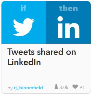 Twitter llamando a LinkedIn